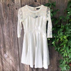 NWT Anthropologie Ryu Lace Mini Dress Mint White